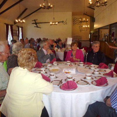 Members celebrating SAUL's 30th Anniversary Tea, summer of 2015