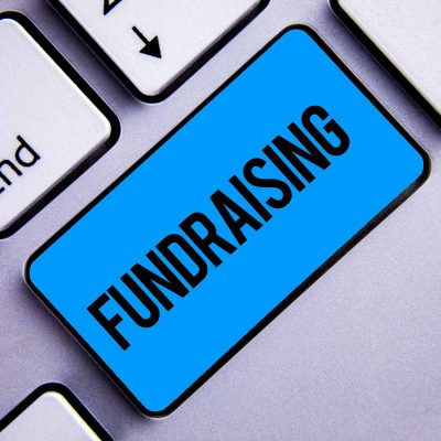 Fundraising button on keyboard